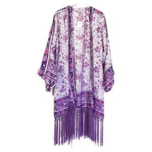 NWT Calypso St.Barth 100% Silk Kimono